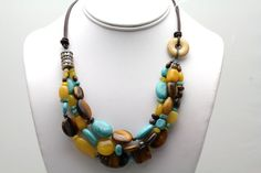 Tiger's Eye Necklace by Ptcreationsjewelry on Etsy