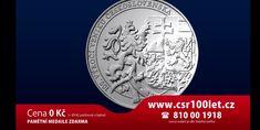 Pro každého Čecha medaile zdarma! Národní Pokladnice slaví 100. výročí od založení Československa! Rok 2018 bude pro český národ historickým mementem!