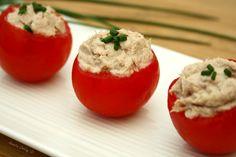 Tomates grappes farcies à la mousse de thon