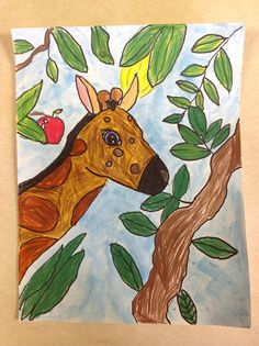 Color It Like you MEAN it!: Third grade giraffes