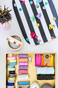 Colorful Craft Supplies