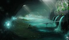 Underground city by emari90.deviantart.com ||| Looks so iconically Hiidren! :D Maybe a little more high-fantasy though.