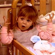 Ashley as Michelle Tanner age 2  Full House season two