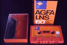 AGFA VINTAGE AUDIO CASSETTE TAPE ( USED ) \ 1975  GERMANY \ RARE ! #AGFA60LNS