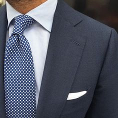 """This beautiful Viola Milano """"Star Pattern self-tip silk - Navy"""" tie are back in…"""