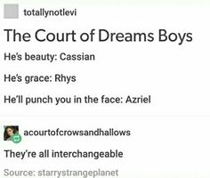 Eh, Rhys can also be beauty and he can also punch you in the face.  Ariel is constantly described as graceful, and beautiful. Cassian will most definitely punch you in the face, and he is graceful in a battle. (Can one be graceful in a battle?)