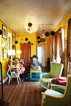 Elizabeth's Colorful and Adventurous House House Tour. Artist Elizabeth Chapin's Austen Home.