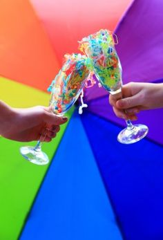 New Year Eve Theme Party Ideas kids toast with plastic flutes filled with confetti they can throw