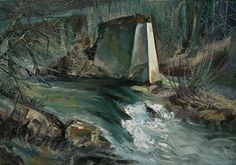 Old Bridge Remains, oil on canvas