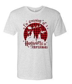 Buffalo Plaid Harry Potter Christmas awesome graphic T Shirt Harry Potter Christmas, Buffalo Plaid, Direct To Garment Printer, Grey And White, Awesome, Mens Tops, T Shirt, Stuff To Buy, Clothes