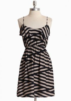 Crossing Paths Striped Dress at ShopRuche