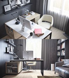 Home Designing — (via Refresh Your Workspace With Ideas From These...
