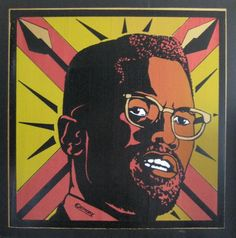 "Malcolm X""  Printed by Political Gridlock at Firehouse Kustom Rockart Co.  (c) 2009 Emory Douglas/Artists Rights Society (ARS), New York  6 color screenprint  Printed on canvas"