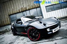 Flat Black Smart Car Flat Black And Red Pinterest Smart Car