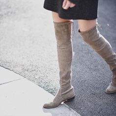 Stuart Weitzman Lowland boots are at the top of our wish list. // Follow @ShopStyle on Instagram to shop this look