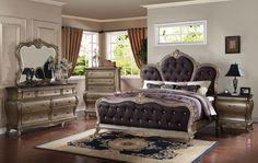Roma - Elegant #Solid #Wood #Traditional #Bedroom #Set by #Empire #Furniture #Design - GoGo Furniture