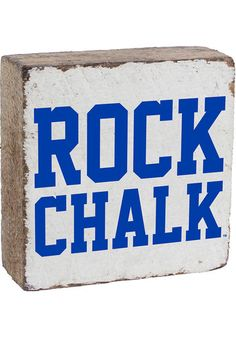 Proudly display your KU Jayhawks Jayhawks spirit with this Kansas Jayhawks Rock Chalk Rustic Block Sign. Rally House has a great selection of new and exclusive Kansas Jayhawks t-shirts, hats, gifts and apparel, in-store and online. University Of Delaware, Kansas Jayhawks, Cricut Creations, Metal Signs, Spirit, Display, Rustic, Rock, Art
