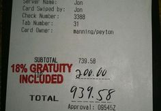 Leaked Peyton Manning Receipt Cost Server His Job