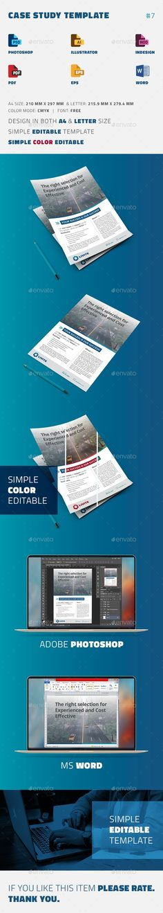 Case Study Template  Flyer  Print Templates Case Study And
