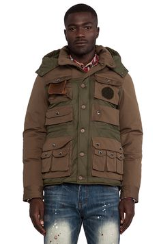 Mostly Heard Rarely Seen Base Army Jacket in Hunter