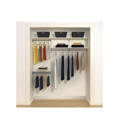 With the Freedom Rail Ladies Closet Style A you can easily customize your closet and can be moved simply from room to room