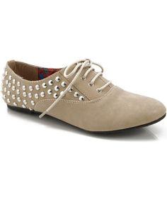 Amazon.com: NB Cambridge-06 Studded Spike Oxford Flats: Shoes