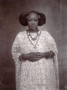 Unknown Artist (Senegal) 'Portrait of a Woman' c. 1910  Glass negative 6 x 4 in (16.5 x 11.4 cm)