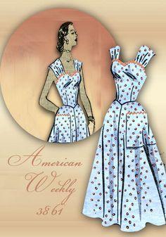 Vintage Sewing Pattern 50s Sundress Wide by FloradoraPresents