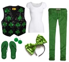 It's almost St Patty's Day!    And I would wear this!!  Haha  people would think I'm crazy though....