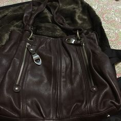 B MAKIWSKY leather shoulder bag Brown all leather shoulder bag,  leather is very soft, purse is large with lots of room.  Silver hardware, included is dust bag B MAKIWSKY Bags Shoulder Bags