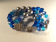Hey, I found this really awesome Etsy listing at https://www.etsy.com/listing/191163251/multistrand-blue-and-silver-bracelet