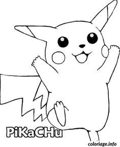 Coloriage pokemon Pokemon Pikachu DESSIN à Imprimer