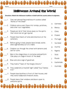 halloween around the world - Halloween Trivia With Answers