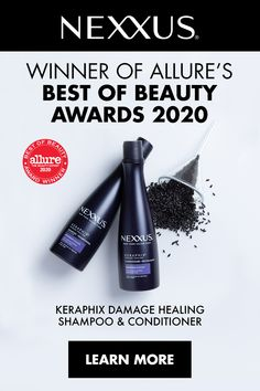 And the winner is… Nexxus Keraphix! Specially designed to replenish and restore hair damage due to bleaching, color treatments and heat styling. Tap to learn more about our award-winning collection.