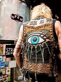 It's not exactly a punk vest but, it's pretty cool