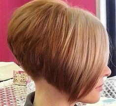 Steeply-graduated bob with clippered nape. image | Flickr - Photo Sharing!