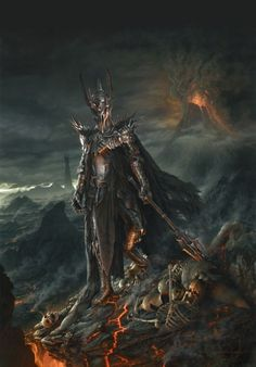 John Howe and Alan Lee's concepts of the Dark Lord Sauron