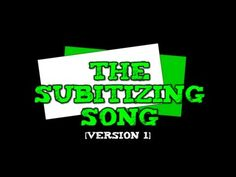 The Subitizing Song! [suhb-itizing] (Version dots, ten-frames, fingers- up to Math For Kids, Fun Math, Math Activities, Maths, Math Fractions, Math Games, Math Songs, Kindergarten Songs, Counting Songs