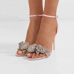 18816dbd7550 Ankle Strap Wedding Heels - Forever Peach. Sleek and simple