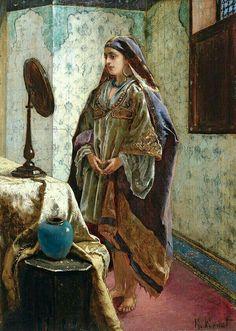 """""""Odalisque in her boudoir""""- Rudolf Ernst"""