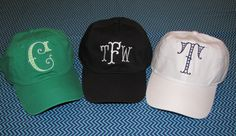 Hats with fun fonts! by Sew Sew Swell
