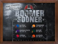 OU 2014 Home Game Schedule - Content marketing example from BlueView Agency for Citizens Security Bank