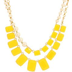 Kate Spade New York - Treasure Chest Double Row Necklace #yellow