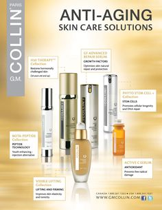 #Anti-Aging Skin Care Solutions from GM Collins. Phyto stem cell, #eye contour, vitamin c, H50 Hormonal Cream and more...