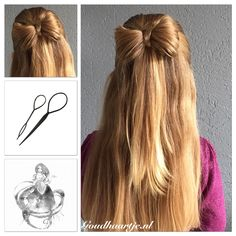 A bow of hair, made with the Topsy Tail from Goudhaartje.nl  #bow #hairbow…