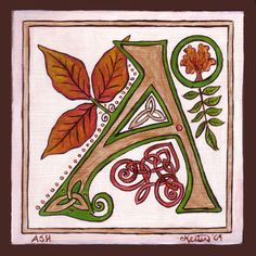 """☮ American Hippie Art ~ Typography Alphabet Letters ~ """"A"""""""