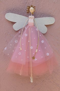 Large Fairy Seated with Personalised by FabulousFairyFactory – BuzzTMZ Kids Crafts, Crafts For Girls, Diy And Crafts, Baby Tutu Tutorial, Butterfly Fairy, Types Of Craft, Kids Boutique, Fairy Art, Fairy Dolls