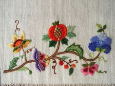 Crewel Embroidery Elegant Table Runner  by SultansTouch on Etsy, $445.00