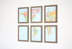 Add interest & color to your home with a beautifully framed map