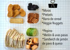 Ideas económicas para los almuerzos del colegio.